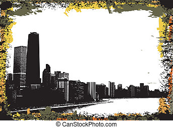 Chicago - View of chicago and lake michigan