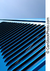 abstract vent - blue abstract of vehicle hood vent