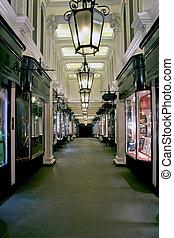 Arcade - Victorian old style arcade shopping mall corridor
