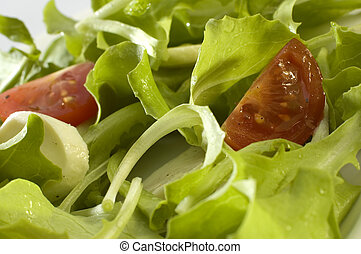 salad - fresh salad with tomato and mozzarella cheese