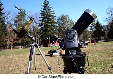 Two Solar Telescopes - an image of Two Solar Telescopes