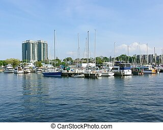 Hamilton harbor 10877 - The skyline of the Hamilton yacht...
