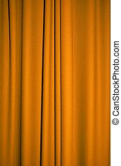 Golden curtain - Background of golden yellow curtain