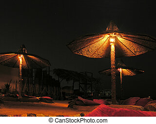 night on beach