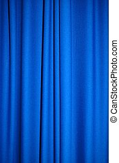 Blue fabric - Background of blue fabric or curtain
