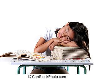 Sleeping Child - Eight Year Old Asian Child Sleeping