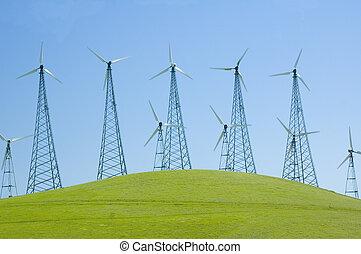 viento, generadores, California