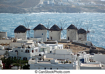 Windmill on the Greek island of Mykonos