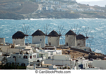 Windmill on the Greek island of Mykonos