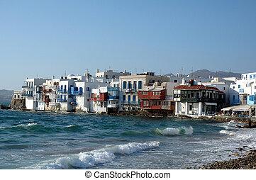 Little Venice on the Greek island of Mykonos