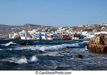 Little Venice on the Greek island of Mykonos