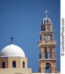 Clock and bell tower on t
