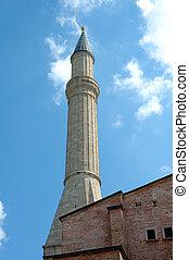Minaret on the Hagia Soph