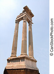 Roman Columns in the historical ancient city of Roma