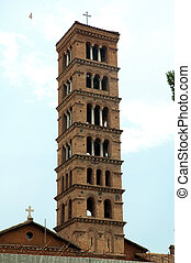 Bell tower on church of t