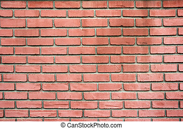 red brick wall as a background