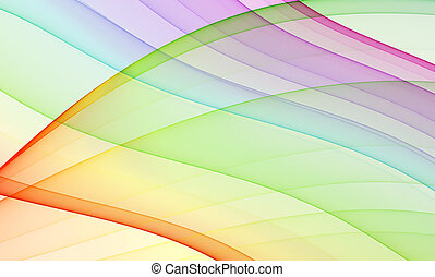 multicolored background - abstract theme with smooth curves