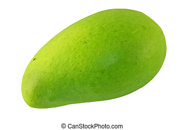 Green Mango - Green mango isolated on a white background