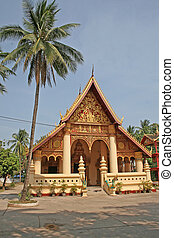 Laos temple - Buddhist temple in Vientiane, Capital city of...