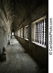 Corridor from Angkor - A corridor of the Angkor temples in...