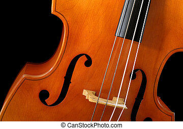 Double bass - Image of a double bass or standup bass, on a...