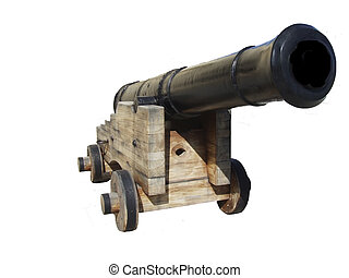 Isolated Cannon - Medieval authentic cannon on the Citadel...