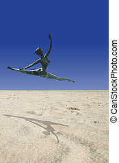 Desert Ballerina - Close up detail of desert sands in...
