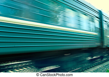 Train speed background-natural photographing of prompt...