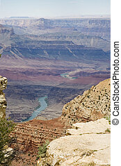 Colorful gradation - Scenic view of Grand Canyon and...