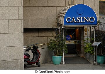 Casino Entrance - Subdued and low profile entrance to a...