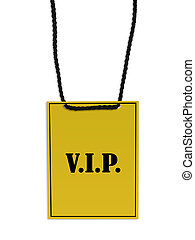 VIP backstage pass - VIP back stage pass on white background...