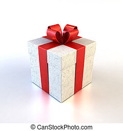 gift box - 3d rendring of the gifts boxe