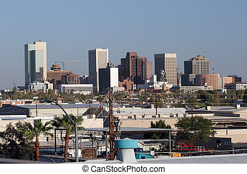 Phoenix Industrial Downtown, AZ - Industrial area next to...