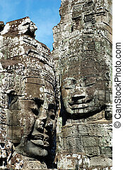 Angkor face - An ancient face of temple in angkor thom