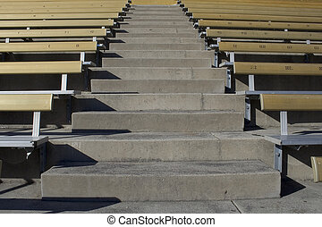 Bleachers are empty - the bleachers are empty after a big...