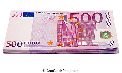 heap from euro - the heap from 500 euro banknotes with...