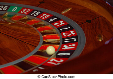 Roulette 2 - Roulette table in action. Shot from a real...