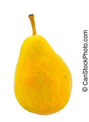 yellow pear - the large yellow pear isolated on white...