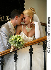Newly married pair - Beautiful newly married pair indoor