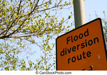 Flood Diversion Route Sign