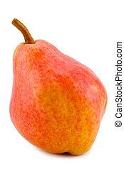 red pear - the large red pear isolated on white background