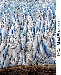 Glacier detail features - Glaciar Grey, Torres del Paine...