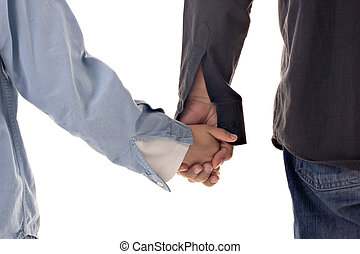 Holding Hands - Father and son holding hands. Concept :...
