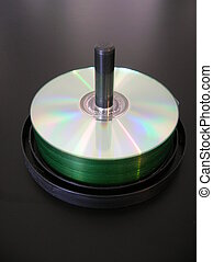 Spindle - A spindle of blank CD\\\'s.