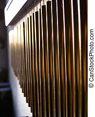 chimes - close-up of tubular chimes