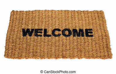 Welcome mat - A straw welcome mat.