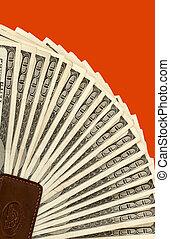 One Hundred dollar bills - One hundred dollar bills fanned...