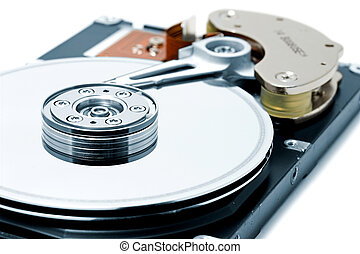Computer hard Disk Drive - Open hard disk drive - shallow...