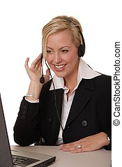 Business Lady - Lovely Business lady working at computer