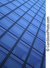 Blue windows background - Blue windows of a skyscraper,...
